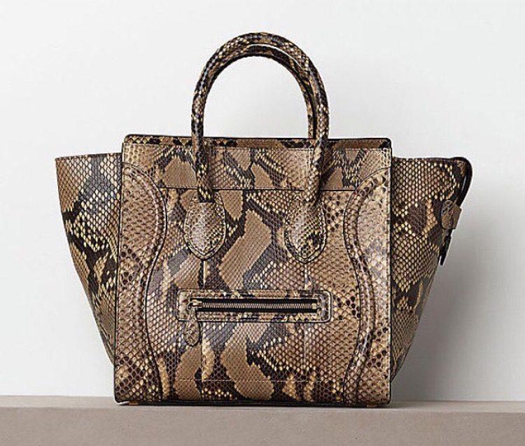 Celine Python Luggage Tote